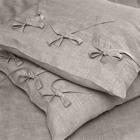Federe Cuscino - federa cuscino in lino lacci naturale cuore di lino