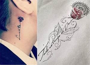Tattoo Unterarm Schrift : rosenranke tattoo bedeutung ideen und vorlagen ~ Frokenaadalensverden.com Haus und Dekorationen