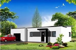 maison toiture 4 pants de 100m2 jubault access With good photo maison toit plat 2 prix maison toit plat 120m2 images