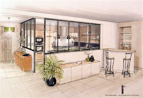 cuisine ouverte sur entr馥 amenagement cuisine fermee maison design bahbe com
