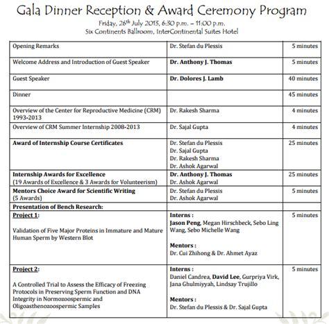 awards event program templates  sample templates