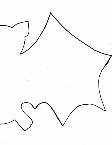 Bat Template Free Coloring Pages Of Bat Wing