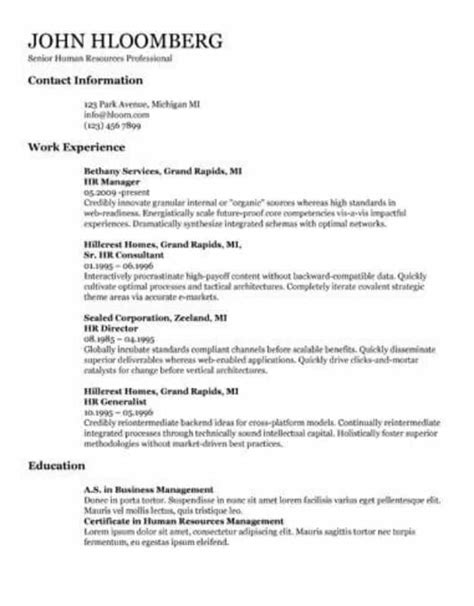 29 docs resume template to ace your next interview