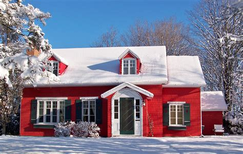 red house and snow by philippel on deviantart