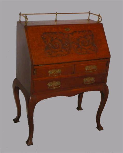 drop front desk antique bargain s antiques 187 archive antique carved oak