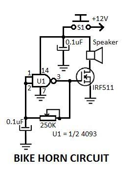 electronic bike horn circuit diagram diagrams in 2019