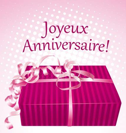 joyeux anniversaire carte avec cadeau stock vector 169 albachiaraa 47298021