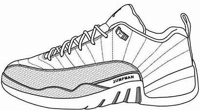 Coloring Jordan Air Sneaker Drawing Shoe Jordans