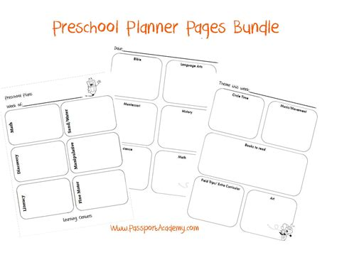 organizing for preschool my preschool lesson planner 183 | preschool planner bundle