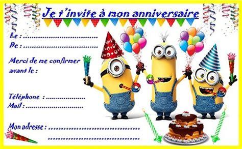 Invitation Anniversaire 6 Ans