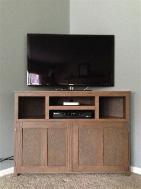 plans build corner tv stand woodworking projects plans