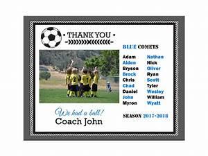 Diy Editable Pdf Sports Team Soccer Thank You Coach