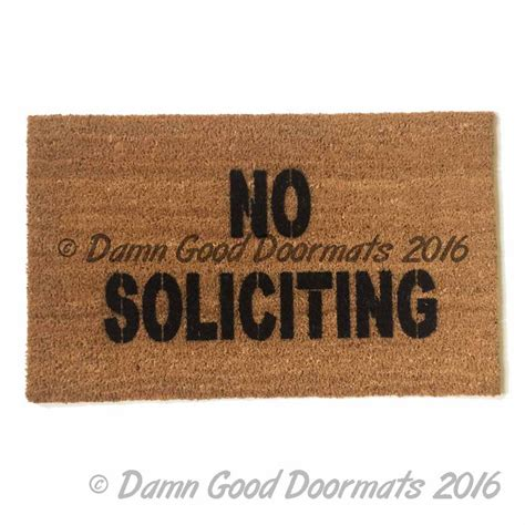 Rude Doormats no soliciting rude doormat doormats