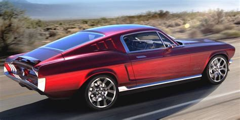 retro electric  ford mustang revealed  russia fox news