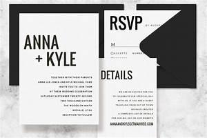 modern minimalist printable wedding invitation set With wedding invitation template for pages mac