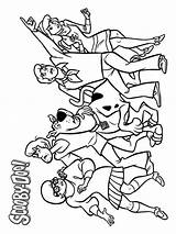 Scooby Doo Coloring Pages Printable Cartoon Cartoons Mycoloring sketch template