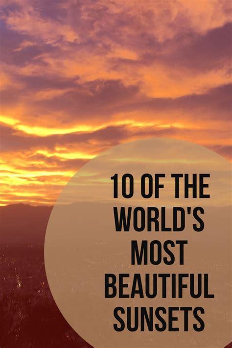 beautiful sunsets world