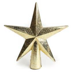miniature gold star tree topper christmas trees and toppers christmas and winter holiday
