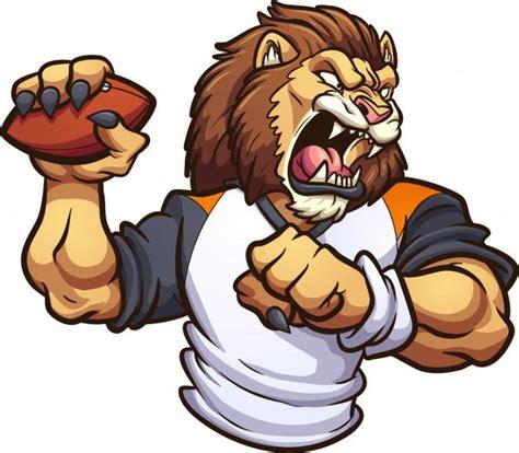 lion mascot  football ballon   mascot photo