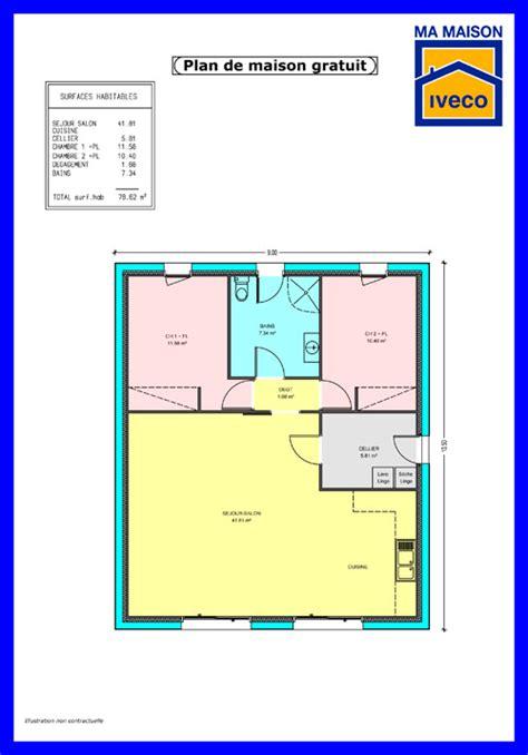 plans de maison plain pied 3 chambres maison 2 chambres top maison