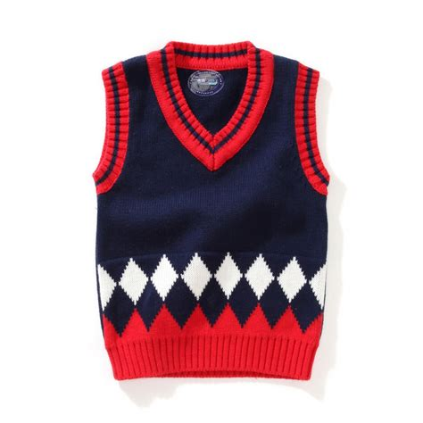 Baby Boy Vest Aliexpress Com Buy Onetoo 1 5y Baby Boy V Neck Sweater