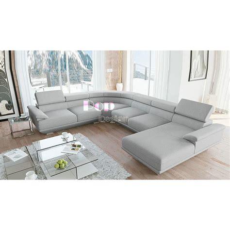 Canape Panoramique - canapé d 39 angle panoramique en cuir véritable cuba