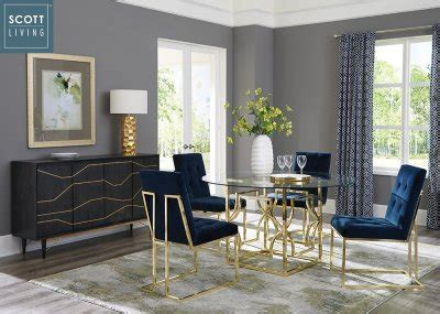 evianna pc dining set   brass scott living