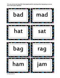 cvc images cvc words kindergarten literacy