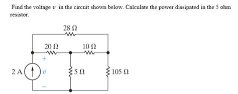 Solved Find The Voltage Circuit Shown Below Cal