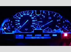BMW E39 speedo LCD display fixed, blue led converted