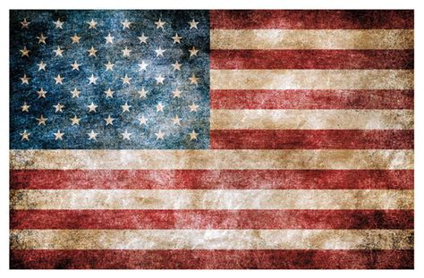 vintage american flag peel  stick giant wall decals