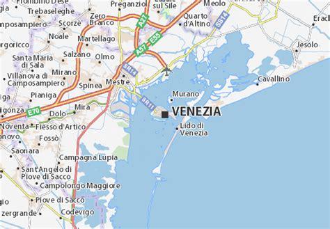 karte stadtplan venedig viamichelin