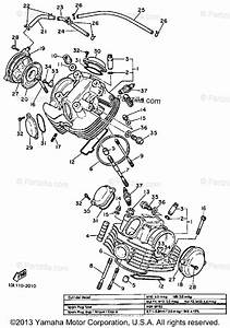 Yamaha Motorcycle 1983 Oem Parts Diagram For Cylinder Head