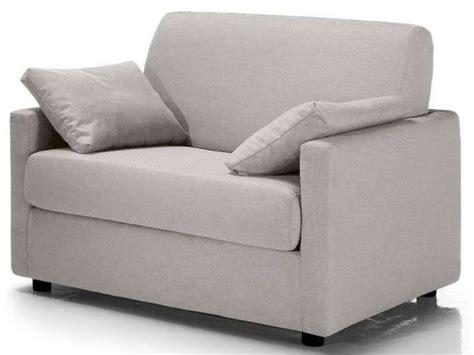 canapé convertible une personne fauteuil convertible federica coloris gris clair