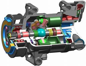 Variable Displacement A  C Compressor