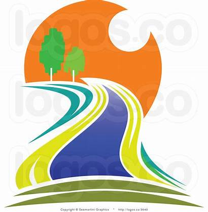 River Clipart Sunset Clip Flowing Stream Creek
