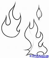 Flames Flame Fire Coloring Pages Draw Drawing Line Printable Stencil Drawings Designs Pattern Tattoos Outline Patterns Stencils Simple Clip Step sketch template