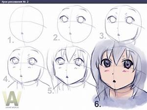 How to draw anime girl in 6 steps | Second drawing lesson ...