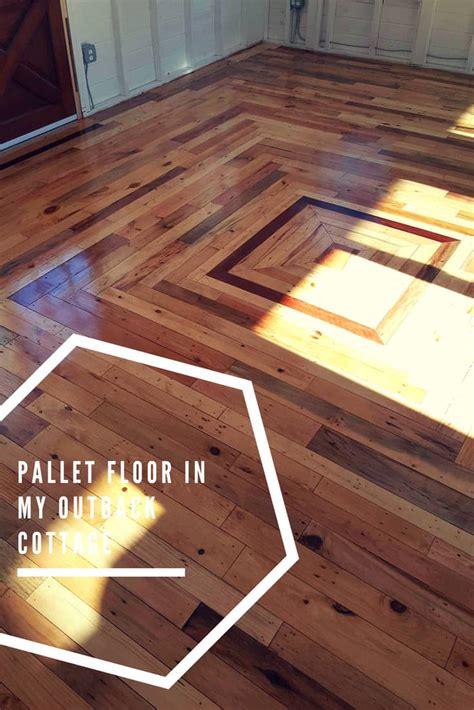 pallet floor   outback cottage  pallets
