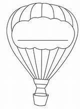 Balloon Coloring Template Balon Decoration Parachutes Printable Cartoon Templates Drawing Sheets Carolinaaac sketch template