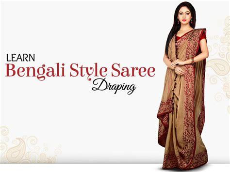 bengali saree draping diy bengali style saree draping this 6 steps