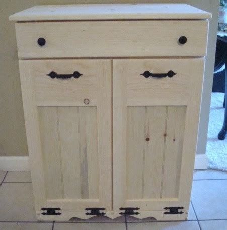 double trash recycling bin cabinet wood new unfinished handcrafted wooden trash recycle bin pet
