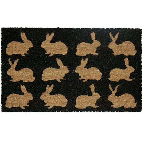rabbit doormat colours bellina black rabbit coir door mat l 0