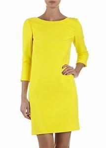 robe jaune caroll yellow dresses With robe jaune caroll