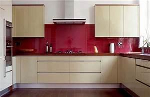 Glasplatte Für Küchenrückwand : k chenr ckwand aus glas rot farbe ~ Articles-book.com Haus und Dekorationen