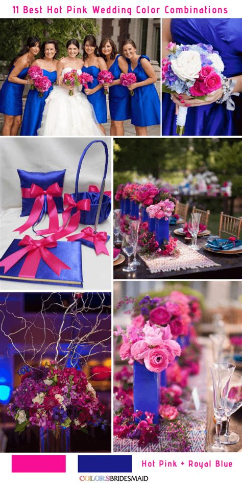 11 best hot pink wedding color combinations ideas