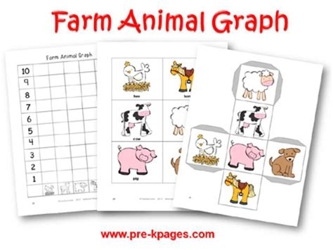 farm theme activities for preschool 682 | farm animal graph