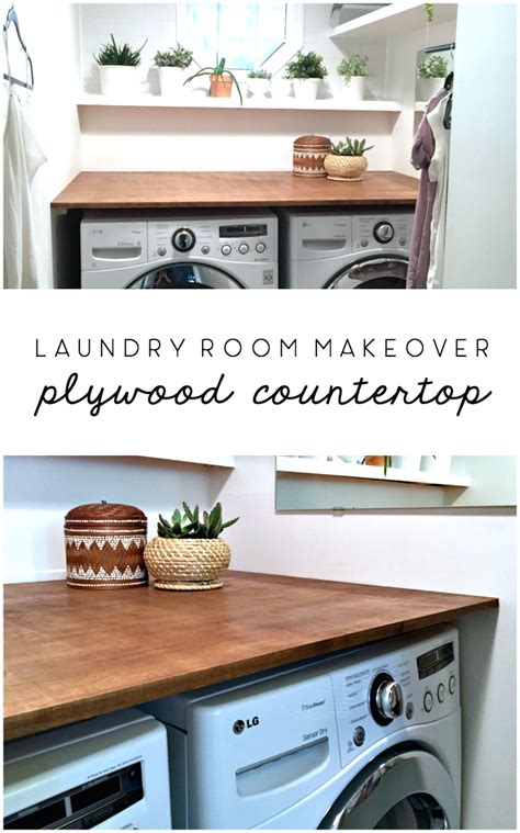Laundry Room Makeover Diy Plywood Countertop • Ugly