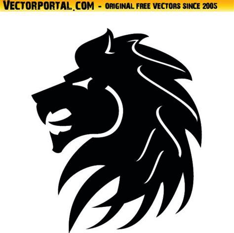 lion head tribal style icon vector vector