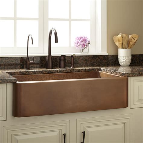French Country Kitchens 33 Quot Raina Copper Farmhouse Sink Kitchen